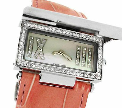 CERRUTI LADIES SCATOLA SOGNO SWISS WATCH NEW PINK LEATHER STRAP CT68282X103022
