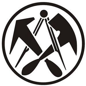 Dachdeckerzeichen  Aufkleber Dachdecker Logo Handwerk Dachdeckerzeichen | eBay