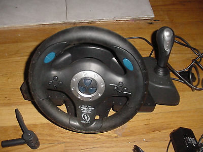 Steering Wheel Playstation Ps 2 1 Ps One Blue Thunder Racing Ernhardt Analog