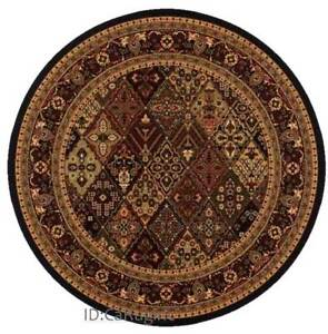 8x8 Round Rug Traditional Persian Antique Look Design