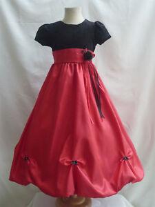 Red holiday velvet christmas wedding girl dress 2 4 6 8 ebay