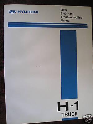 100% QualitäT Hyundai H-1 H1 Lkw 2003 : Elektrische Fehlersuche Handbuch
