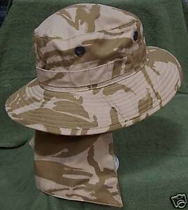 NEW-Army-Issue-Desert-Camo-Bush-Hat-Size-59cm-with-removable-neck-cover
