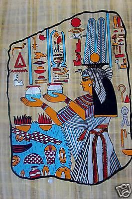 Ägypten Papyrus-Bild 30x40  Die Göttin Maat