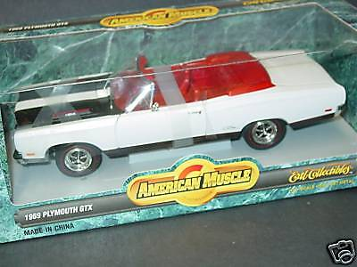 Ertl 1/18, 1969 Plymouth Gtx, White,