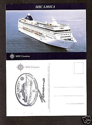 Msc Lirica     Msc Cruises Pc Capt Signed   Ships Official Stamp