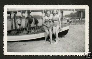 Vintage Photol 2 Ladies/Swimsuits/Beach/ Row Boat