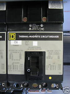 square d fa36015 15 amp 3 pole i line circuit breaker grey label warranty 794518210166 ebay. Black Bedroom Furniture Sets. Home Design Ideas