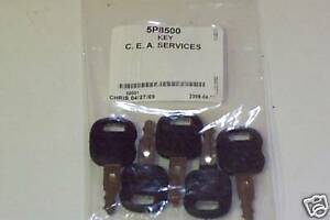 5-5P8500-Old-Ignition-Keys-Fits-Cat-Caterpillar-ASV-Positrack-0310-072-L1