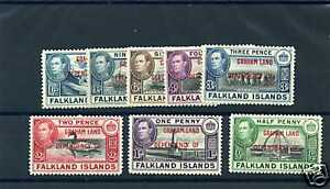 FALKLAND IS DEPENDENCY Sc 2L1-8 (SG A1-8)**F-VF NH $90