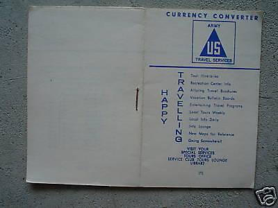 Vintage Us Army Booklet Currency Converter Look