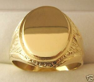 LARGE GENUINE  9K  9ct  SOLID  GOLD  MENS  SIGNET  RING  UNBEATABLE  PRICE !