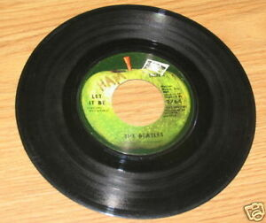 Vintage Capitol Records 45 Rpm The Beatles Let It Be