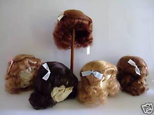 PERRUQUE T9 (32cm) 100% cheveux naturels pour poupées anciennes ou modernes