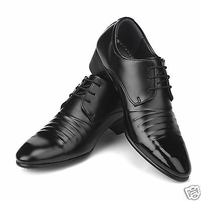 New Mens Italian Style Dress Casual Shoes Black Sz 10
