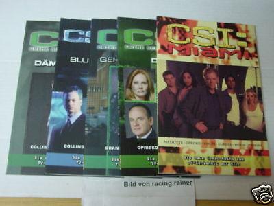 CSI Miami Nr.1,2,3,4,5 komplett (Panini) Comic