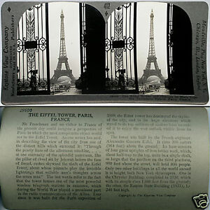 Keystone-Stereoview-of-the-EIFFEL-TOWER-in-Paris-FRANCE-From-600-1200-Card-Set
