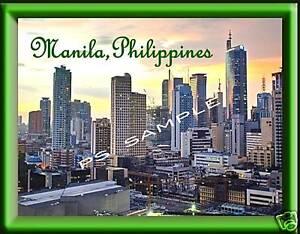 Philippines-MANILA-Souvenir-Fridge-Magnet