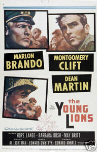 The-young-lions-Marlon-Brando-vintage-movie-poster