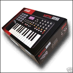 Akai-MPK25-mpk-25-Key-USB-Midi-Controller-Keyboard-keys-BRAND-NEW
