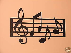 Metal Wall Art Home Decor Music Notes Musical Note