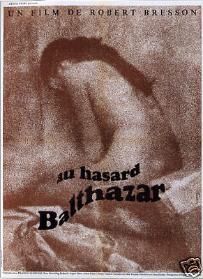 Au hazard Balthazar Robert Bresson movie poster print