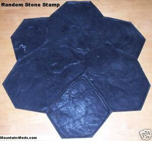 Random Stone Decorative Concrete Cement Stamp mat FLEX