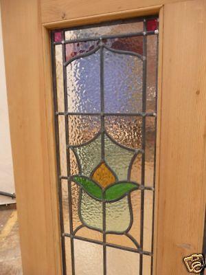 ORIGINAL-VICTORIAN-EDWARDIAN-STAINED-GLASS-EXTERIOR-FRONT-DOOR-5-PANELS