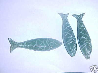 Genuine Carved Tai Jade FISH  Pendants 40 to 42 MM
