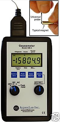 Dcac Gaussmeter Model Gm2 High Gauss Reading Meter
