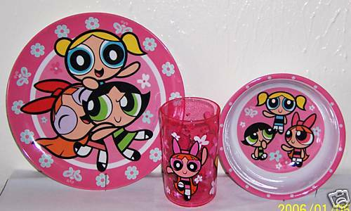 Powerpuff Girls Dinnerware 3 Pc Set