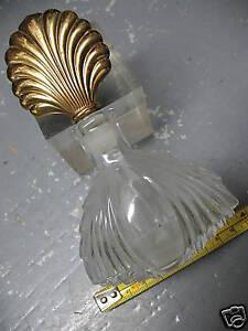 PERFUME BOTTLE & GLASS APPLICATOR MARKED S R BRONZE