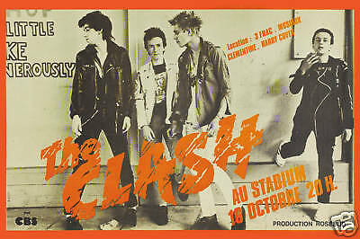 Punk: The Clash in France Concert Poster 1979 LARGE FORMAT 24x36