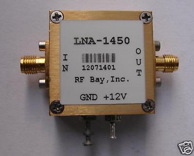 10KHz-1450MHz Low Noise Amplifier, LNA-1450, New, SMA