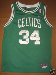 5ac60a351dc2 Image is loading Boston-Celtics-34-Paul-Pierce-Youth-Size-Medium- · Reebok  Women s Premier NFL Jersey ...