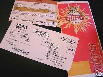 Lost Billet D'avion Ajira Vol 316 +poche+boarding Pass Lost Ajira Flight Tickets