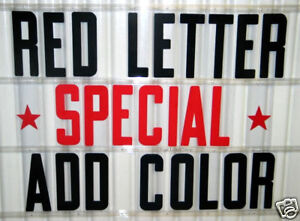 8 Outdoor Portable Marquee Sign Letters Red Special 320 count set
