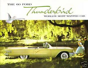 1960 FORD THUNDERBIRD  SALES BROCHURE