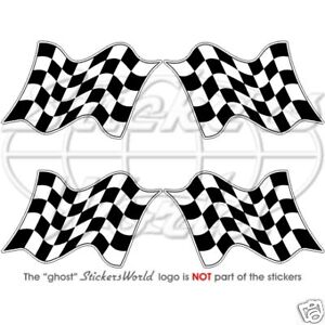 End-of-Race-Checkered-RACING-WIN-FLAG-5cm-2-Sticker-x4