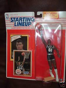 David Robinson RC 1990 SLU Starting Line Up Rookie Figure!San Antonio Spurs