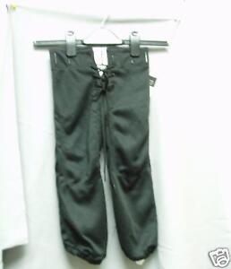 Youth-Practice-Football-Pants-Slotted-Black-Medium-NWOT