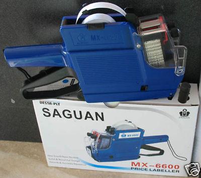 MX-6600 Saguan 10 Digits 2 two Lines Price Tag Gun +1 Ink