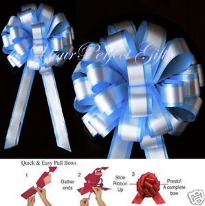 BABY-BLUE-WHITE-WEDDING-8-PULL-PEW-BOWS-BRIDAL-DECOR