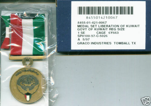 Liberation Of Kuwait Medal Set Govt Of Kuwait In Box