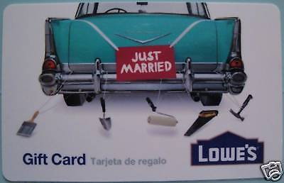 "LOWE'S Gift Card ""Just Married"" COLLECTIBLE NO VALUE on Rummage"