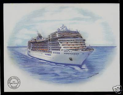 Original Art Work     Msc  Poesia    Msc    Cruise Ship  W  Ships Official Stamp