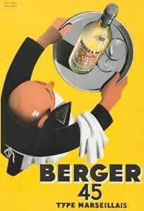 Affiche Cadeau Poster Pub Pastis Marseille Berger 45