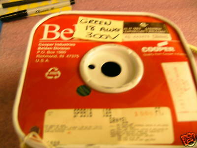 Spool >900ft Belden 9918 18awg 300v Grn/yel Cable Wire
