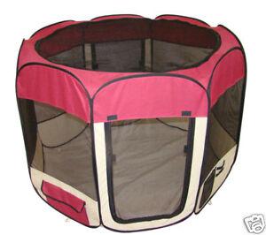 Burgundy-Pet-Dog-Cat-Tent-Puppy-Playpen-Exercise-Pen-L