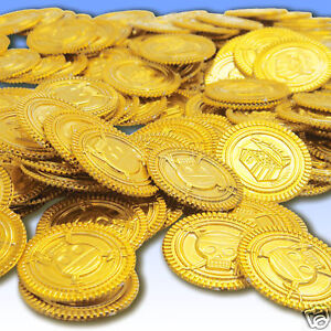 144-Plastic-Party-Prop-1-25-Gold-Pirate-Treasure-Coins